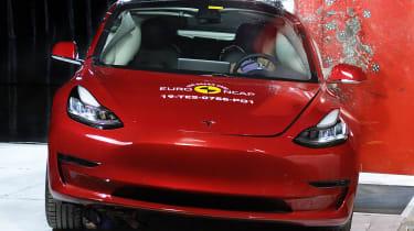 Tesla Model 3 side impact crash test