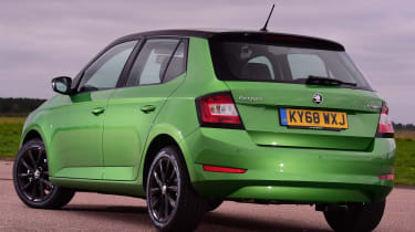 Skoda Fabia hatchback rear 3/4 static