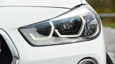 BMW X2 SUV headlights