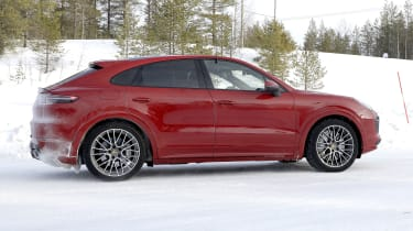 Porsche Cayenne Coupe GTS in development - side view