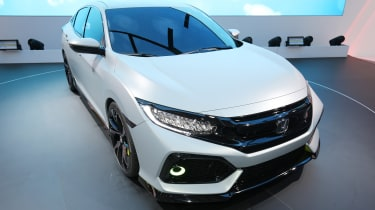 The new Honda Civic made its public debut at the 2016 Paris Motor Show
