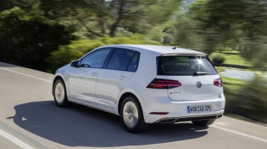 The e-Golf doesn't feel out of its depth on motorways, either