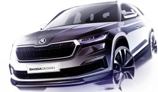 2021 Skoda Kodiaq facelift teaser