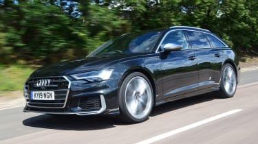 Audi S6 Avant estate front 3/4 driving