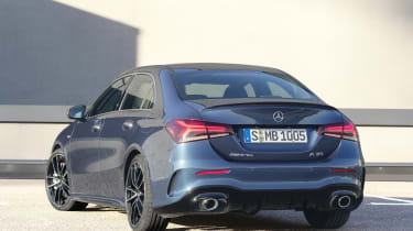 Mercedes-AMG A 35 Saloon rear quarter static