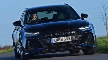Audi RS6 Avant estate front cornering