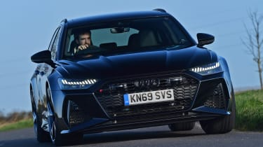 Audi RS6 Avant estate front cornering