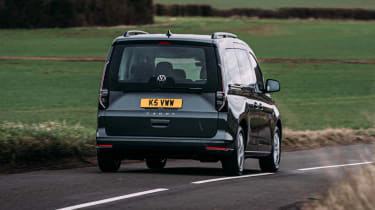 Volkswagen Caddy MPV driving rear view