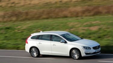 Underway, the Volvo is a refined cruiser that excels on the motorway