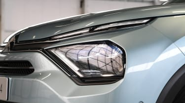 2021 Citroen e-C4 - front headlights side view