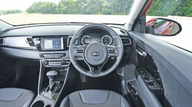 Inside, the Niro is another example of Kia's rapidly-improving material quality