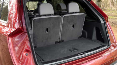 Audi SQ7 SUV boot with seven seats