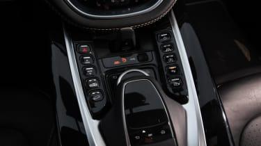 Aston Martin DBX prototype centre console controls