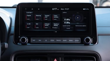 Hyundai Kona N infotainment screen