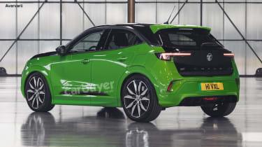 Vauxhall Mokka-e VXR rear view
