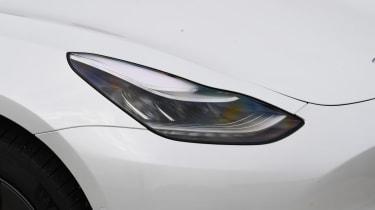 Tesla Model 3 - front headlight close up