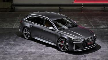Audi RS6 Avant top front view