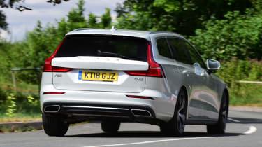 Volvo V60 estate rear driving