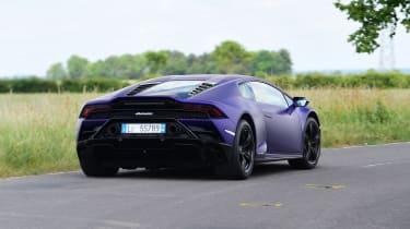 Lamborghini Huracan Evo RWD rear cornering