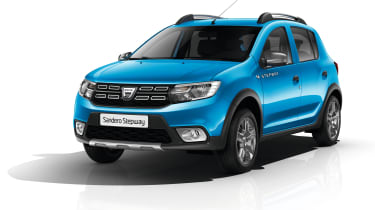 Sandero Stepway models have a redesigned front end for a stronger resemblance to the Duster