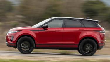 Range Rover Evoque 2019 side profile tracking