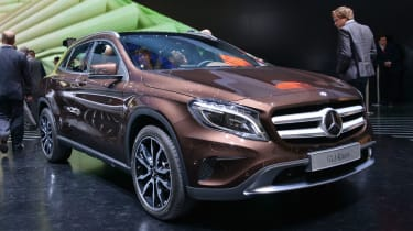 Mercedes GLA SUV 2014 front quarter static