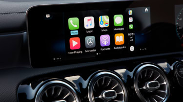Mercedes CLA saloon infotainment system