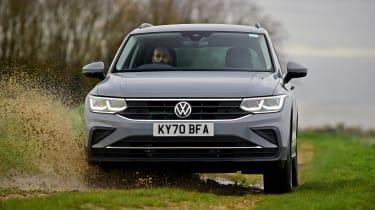 Volkswagen Tiguan SUV front off-road