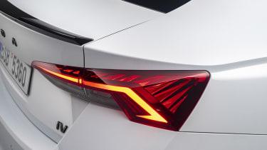 Skoda Octavia vRS hatchback rear end detail