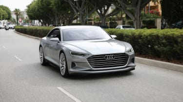The Audi A9 - seen here in Prologue concept form - will be a sleek, luxurious and expensive grand touring coupe