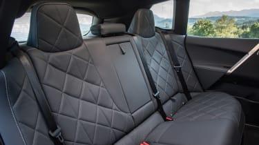 BMW iX SUV rear seats