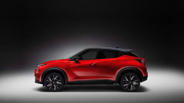 New Nissan Juke in red - side view
