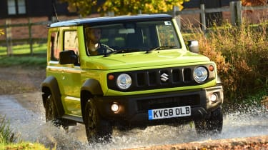 Suzuki Jimny SUV water splash
