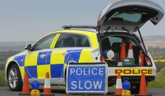 Police car - open boot