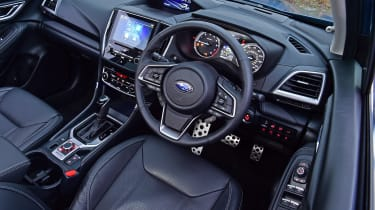 Subaru Forester interior - top view
