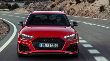 Audi RS4 Avant driving - front end
