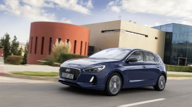 The Hyundai i30 is a rival to other family hatchbacks like the Ford Focus, Vauxhall Astra and VW Golf