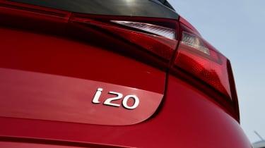 Hyundai i10 hatchback rear badge