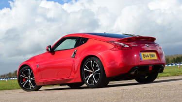 Nissan 370Z coupe rear 3/4 static