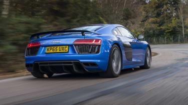 Audi R8 - rear 3/4 view