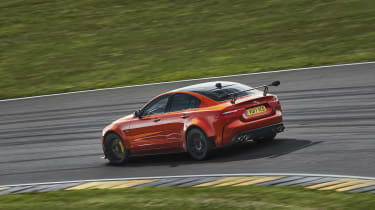 Race-track thinking abounds on this wildest of Jaguars