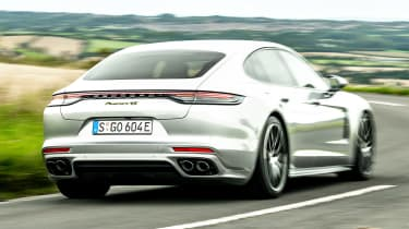Porsche Panamera hatchback rear 3/4 driving