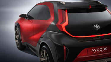 Toyota Aygo X Prologue rear/side detailing