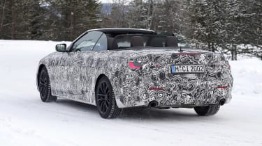 BMW 4 Series Convertible rear view - roof down