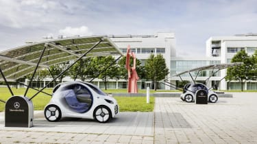 With no steering wheel or pedals, the Vision EQ is a fully 'Level 5' autonomous vehicle