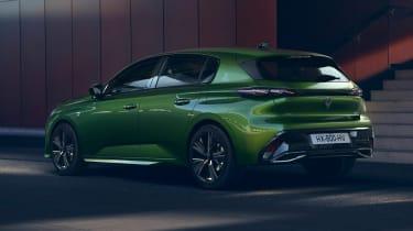 2021 Peugeot 308 - rear 3/4 view dynamic