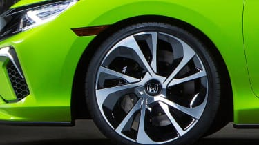 The coupe concept had features that didn't make it to the design of the new Honda Civic