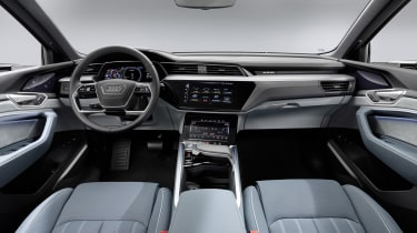 Audi e-tron Sportback interior - wide view