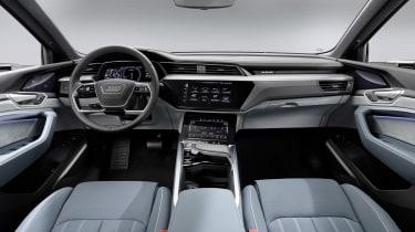 Audi e-tron Sportback interior - wide view