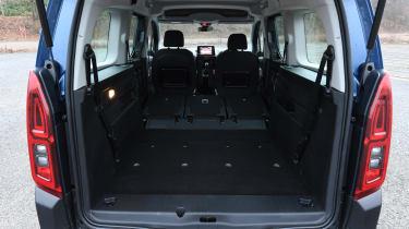 Citroen Berlingo MPV boot seats folded